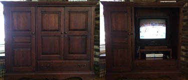 Reduced! Wood Entertainment Center Storage Unit in Bolingbrook, Illinois