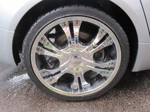 4 x 20 inch Silver Chrome Alloy Wheels SHOZ Witch good tyres in Lakenheath, UK