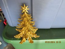 Tabletop Gold Christmas Tree With Star On Top in Houston, Texas