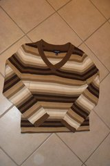 Sonoma Womens Brown Striped Sweater Size Medium in Las Vegas, Nevada