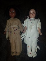 Vintage 1950's Native American souvenir hard plastic doll pair in Joliet, Illinois