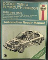 Dodge Omni, Plymouth Horizon Repair and Service Manual 1978-1990 by Haynes in Fort Leonard Wood, Missouri